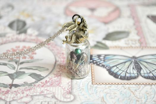 Game of thrones inspired bottle necklace by CatherineMcGrath