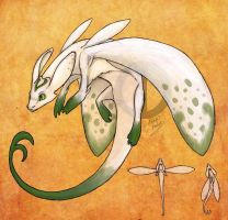 "Galanthus ""Snowdrop"" Dragon by Turtle-Arts"