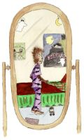 Wolfboy - MirrorReflection by FaerieShadows
