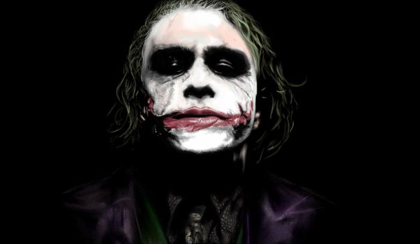 Heath Ledger as Joker by DobermannRU