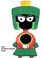 Daily Sketch Challenge: Marvin the Martian by subatomiclaura