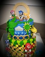 My Sonic Birthday Cake by Racefan2464