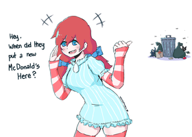 Smug Wendy's by NANOCANYON