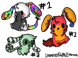 Earmouth Adoptables(open) by PrePAWSterous