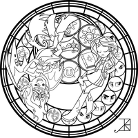 SG: Live This Down: Coloring Page by Akili-Amethyst