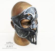 Full Face Armored Knight Mask by nondecaf