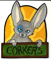 Corkers con badge by RainbowCrumbs