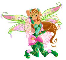Winx Club season 6 Flora Bloomix by Forgotten-By-Gods