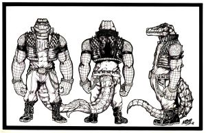 Crocodile Fighter Turnaround by NikolasDraperIvey