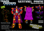 TFP Sentinel Prime for Poser - DOWNLOAD NOW by RazzieMbessai