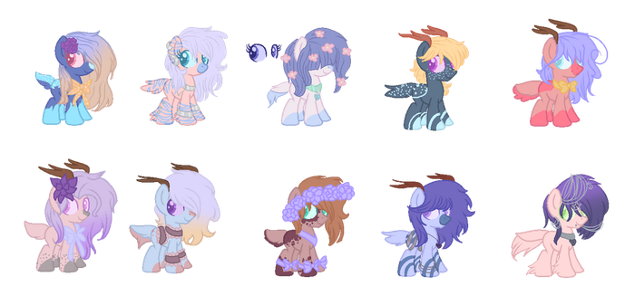 Breedable foals for xLeviathanLovesYoux(2/3) open by teoflory3
