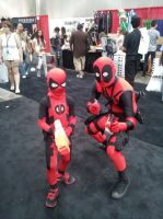 Kidpool and Deadpool by Mekura-Tamashii