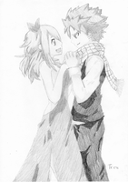 Natsu and Lucy by LTrevill