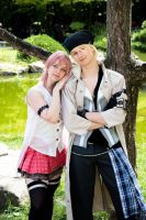 Final Fantasy XIII - Snow and Serah by Quicky81