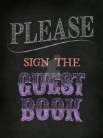 Guest Book Chalk Text by ReneeRutherford
