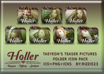 Taetiseo Holler Taeyeon's Teasers Folder Icon Pack by Rizzie23