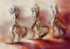 Standing Lemurs by KP-ShadowSquirrel