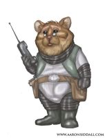 Alien Space Hamster by MythAdvocate