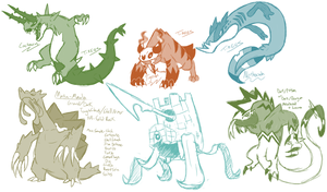 Future Fakemon of 2014 by T-Reqs