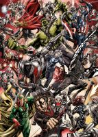 The Avengers versus Ultron by Titancross