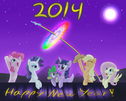 Happy New Year 2014! by Wolframclaws