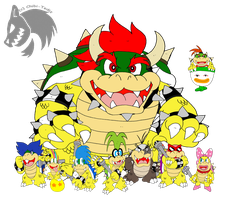 The King and the Koopalings by Chibi-Tediz