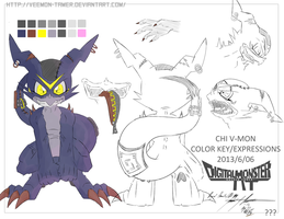 DIGIMON - DM2T : REF SHEET ???- CHI V-MON by veemon-tamer