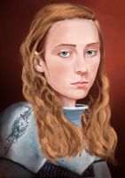Joan of Arc digital Painting V2 by Mathieustern