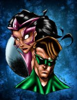 Star Sapphire and Lantern by MarcBourcier
