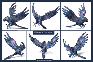 Galaxy Conure by emilySculpts