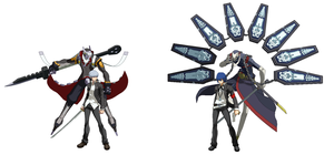 P4VSP3 Yu and Izanagi VS Minato and Thanatos by ZeroSenPie
