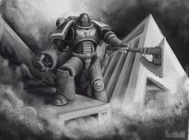 Another Space Marine by Diamondaectann