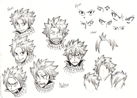 How to draw Natsu Dragneel by BlueRiser