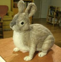 Needle Felted Bunny by JessieDockins