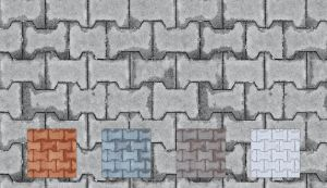 Tileable Brick Texture with 5 by elemis