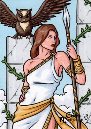 Athena Sketch Card 2 - Classic Mythology