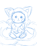 *Request* Pichu in Tails Costume - WIP by xXHeartless-RosesXx