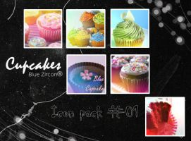 Cupcakes Icon pack 01 by bluezircon-graphics