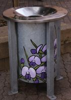Painted dustbin by vprima14