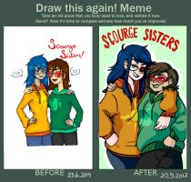 Draw this again! Meme (Scourge sisters) by Clownmonarch