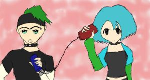 Gwen and duncan can phones by seths-girl