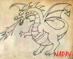 dragon on paper by nadavnach