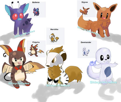 .:Pokemon:. Poke Fusions Batch 1 by shinychicadee