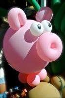 Pig Balloon by rafaelmcsilveira