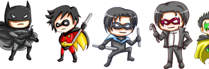 Batman and Robins by khiro