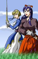 Sword Girls colored by mhunt