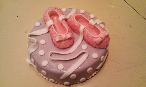 ballet shoes cake 2 by marypiccia