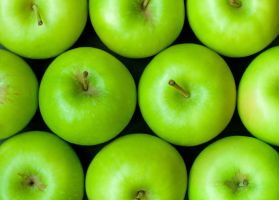 Green apples background by H6RM