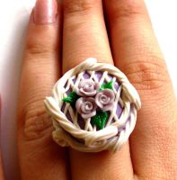 Lavender Rose Cake Ring by FatallyFeminine