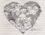 Heart Shaped: Doodle by rika0225